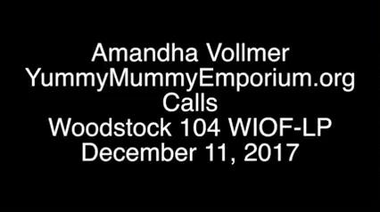 Amandha Vollmer with Paula Gloria on Public Radio Woodstock 104 WIOF