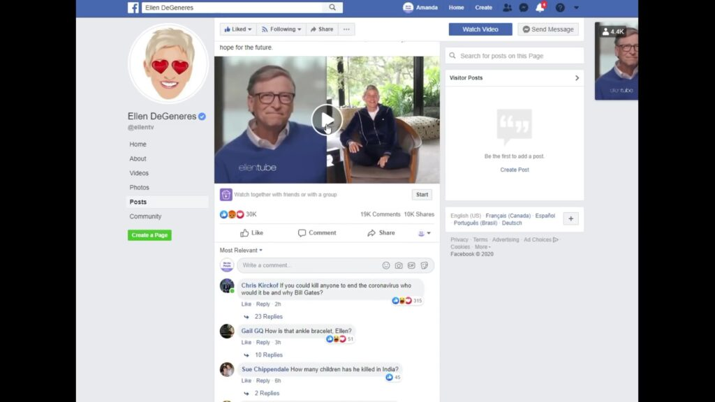 Ellen Likes Pizza and Trolls? – Why Does She Keep Exposing Herself? (With deleted Comments)