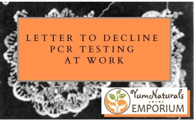 Letter to decline PCR testing at work